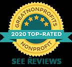 2020 Great NonProfits Top Rated Awards Badge